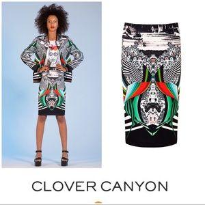 Clover Canyon 'Swirl Scarf' Skirt (XS)